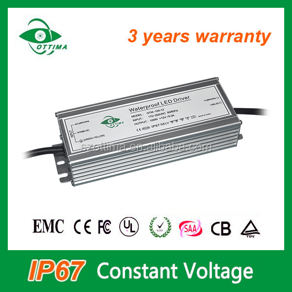 230v ac 24v dc 48v dc converter bis approved led drivers 100w waterproof constant voltage ip67