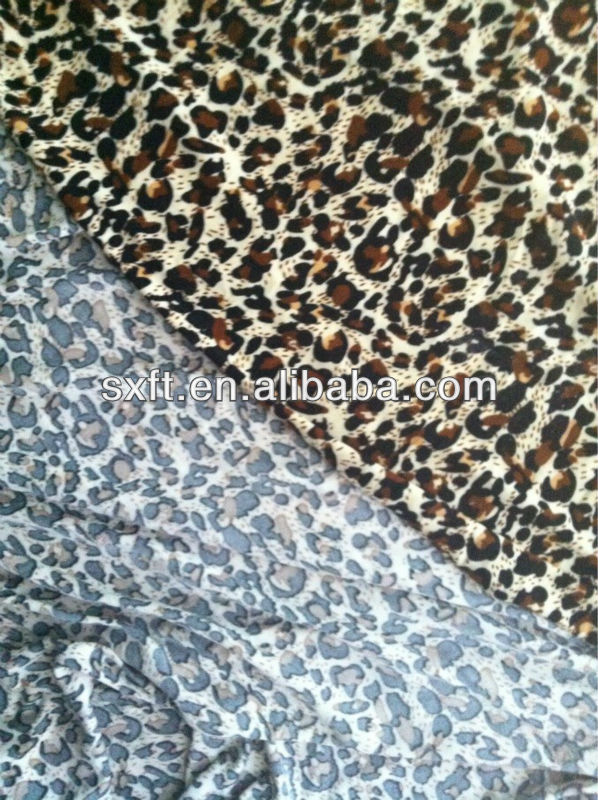 95% polyester and 5% spandex print jersey fabric