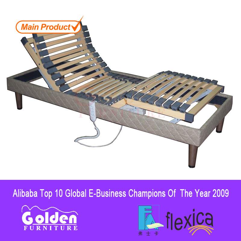 Golden furniture wooden slat electric bed with cheap price