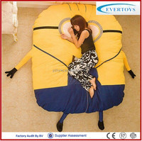 200x150cm wholesale cheap despicable me minion plush toy minion bed
