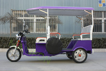 2015 battery operated e-rickshaw with pedals auto rickshaw with ABS ROOF