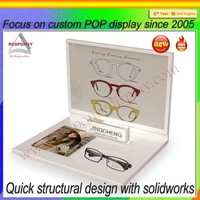 Plexiglass eyewear display rack acrylic optical frame stand sunglasses display tray