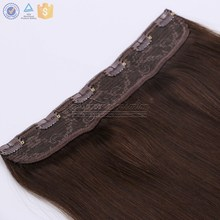 Cheap Price Peruvian Remy Hair Extensions 12 to 24 Inch Straight Fish Line Halo Flip in Hair Extensions