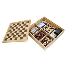 7 In 1 Wooden Chess Game Box Travel Game