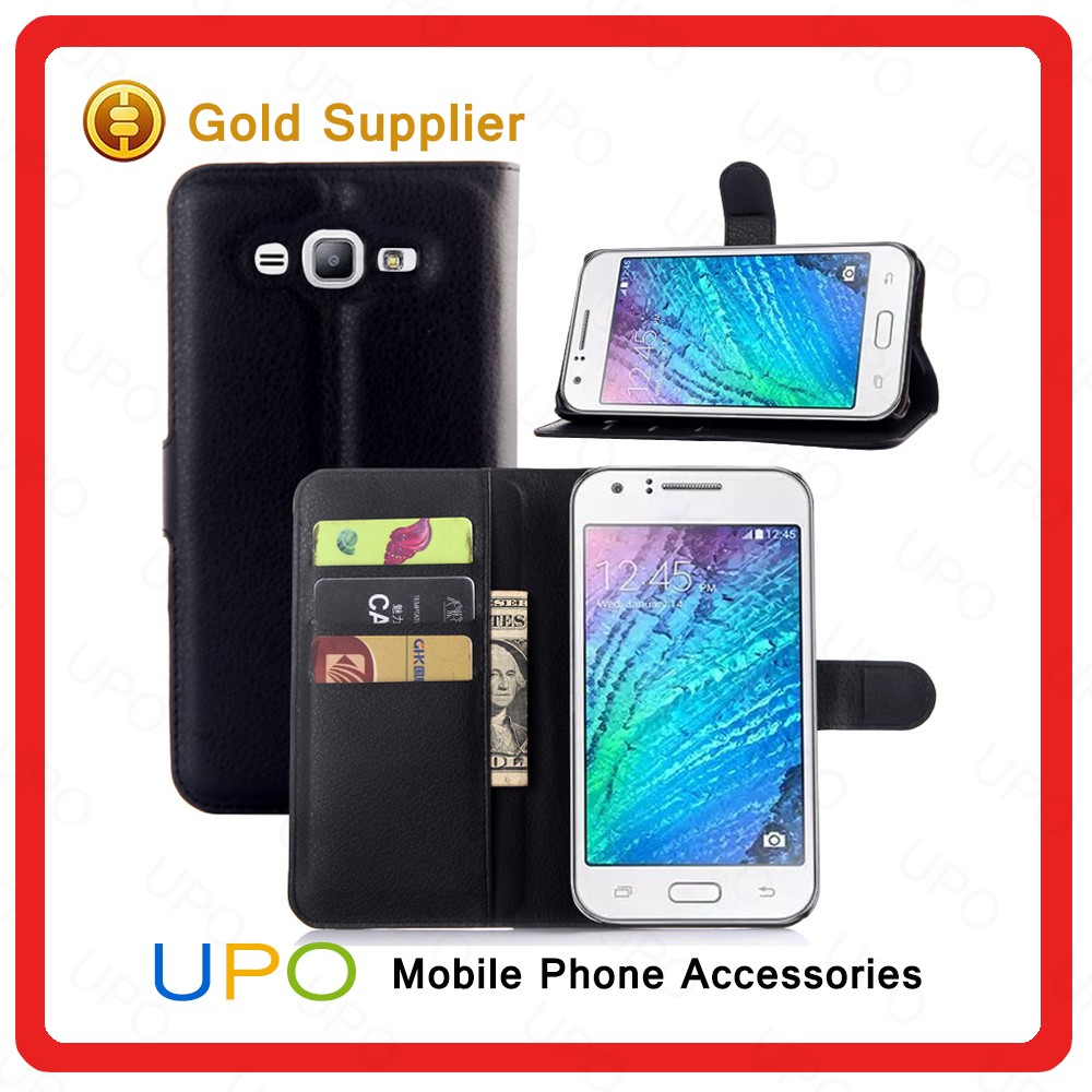 [UPO] Fashionable Mobile Case Cover Leather Flip Cover for Samsung Galaxy J7 Wallet Stand Case with Card Slot