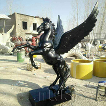 Abstrace Decorative Fiberglass Horse With Wings Sculpture