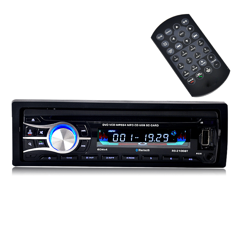 One Din DVD VCD CD Car Player with USB AUX ISO Connector