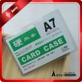 pvc transparent ID card holder A7 size
