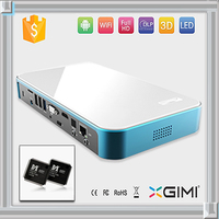mini portable home theater led full hd 3d digital video projector support blue-gray DVD,VCD