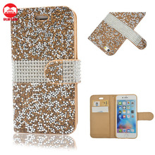 New Arrive Luxury Flip Card Diary Bling Crystal Diamond Rhinestone Wallet Leather Case for Samsung Galaxy S7 Edge Plus S6 S5