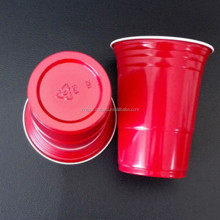 Hot sale 16oz disposable PS plastic red solo party cups