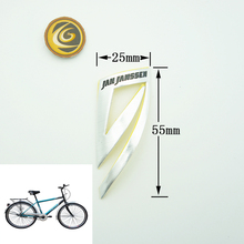 Bright Silver Custom Specialized Bike Stickers for Self-adhesive Aluminum Sticker
