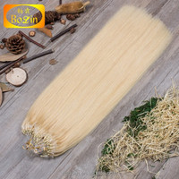 Indian 100% Human Hot Selling Unprocessed Tangle Free Factory Price Wholesale Brazilian Micro Ring Loop Hair Extensions
