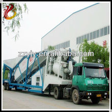 Capacity of 40m3/h mobile concrete batching plant