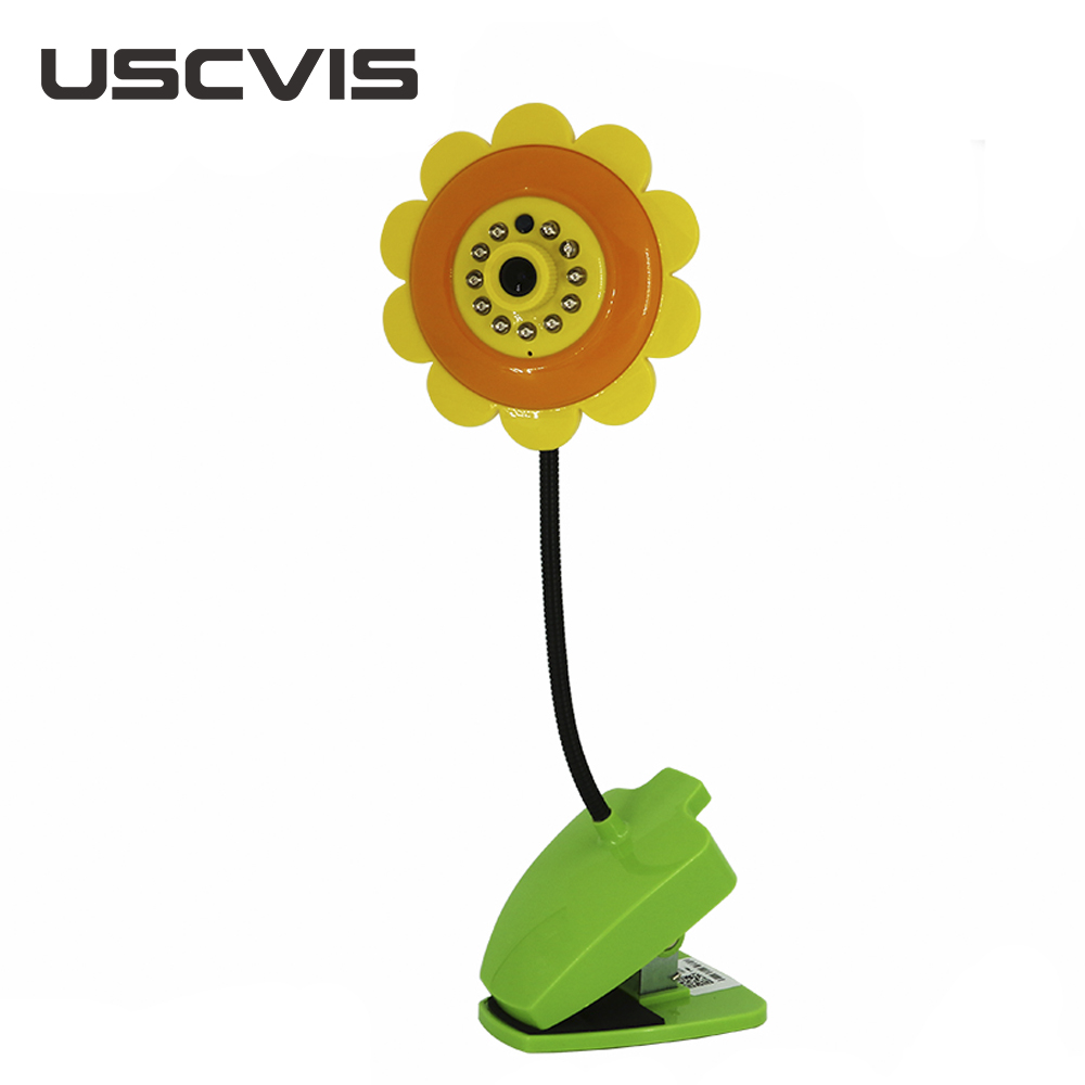 USC baby monitor new model flower unique vision ir color cmos wireless speaker cctv security camera wifi with recording
