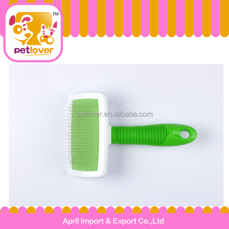 new product pet rubber handle steel wire brush for dog petlover trade assurance