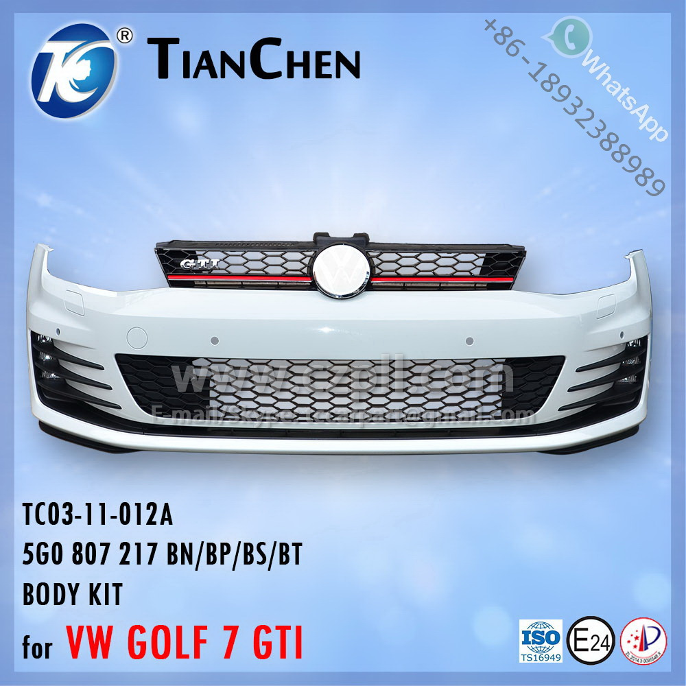 FRONT BUMPER for GOLF 7 GTI / 5G0 807 217 BN/BP/BS/BT / 5G0807217BN - 5G0807217BP - 5G0807217BS