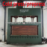 hot press short cycle/cold press woodworking machine/plywood cold press machine