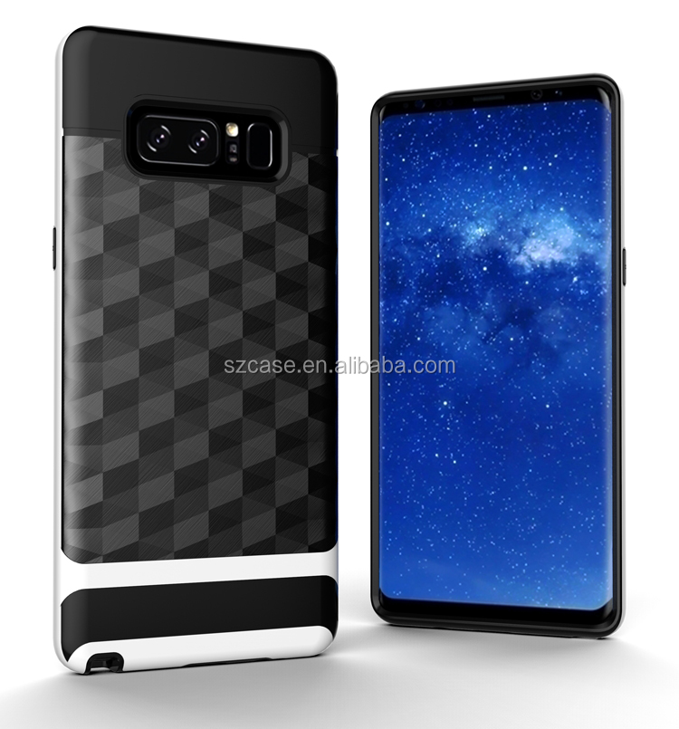 Free Sample 2in1 hybrid shockproof hard pc tpu bumper phone back cover case for samsung galaxy note 8