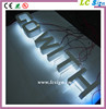 rear side light letter led sign 3D illuminate acrylic sign with car paint