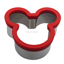 Mickey Mouse shape plastic stainless steel cookie cutters