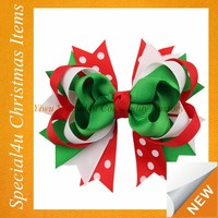 christmas bow-knot for little girl hand made goody hair accessories Lyd-1154
