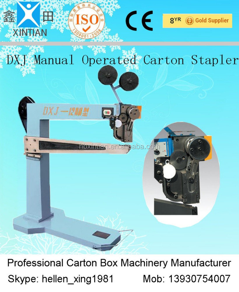 Adjustable Industrial Carton Stapler Corrugated Cardboard Stapling Machine