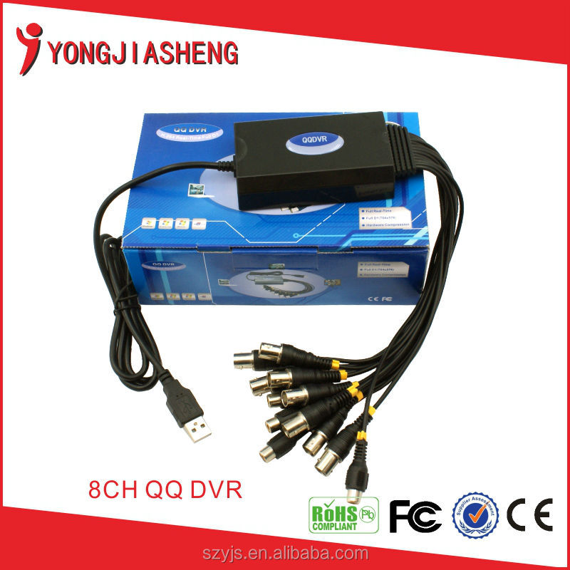 Video Capture device 8 channel cctv Real-time Full D1 8CH USB DVR