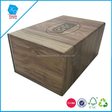 Eco friend wood grain special paper magnetic storage box