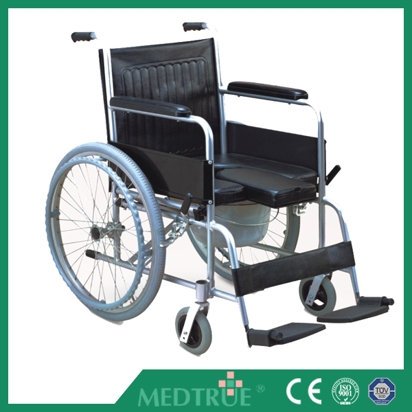 CE&ISO Passed Hot Sale Cheap Medical Foldable Commode Aluminum Wheel Chair (MT05030061)