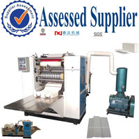 Hygienic N folded hand towel tissue paper cutting and folding machine,automatic counting Z type paper towel converting equipment