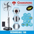 18inch rechargeable solar fan for home air cooler fan stand
