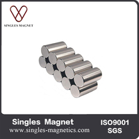 Customized permanent neodymium diametrically magnetized cylinder magnets