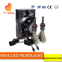 Safe Bright Automatic Driving Light For Philips No Fan Type High Low Beam 9004 LED Car Headlight Bulb Kit