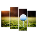 4 Panels Canvas Golf Course Wall Art Canvas Pictures For Living Room Wall Posters Home Decoration/Al09251