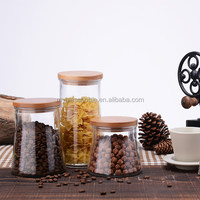 glass jars with suction seal wooden lids