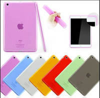Laudtec Transparent TPU rubber/silicone protective case for iPad Air,for iPad 5