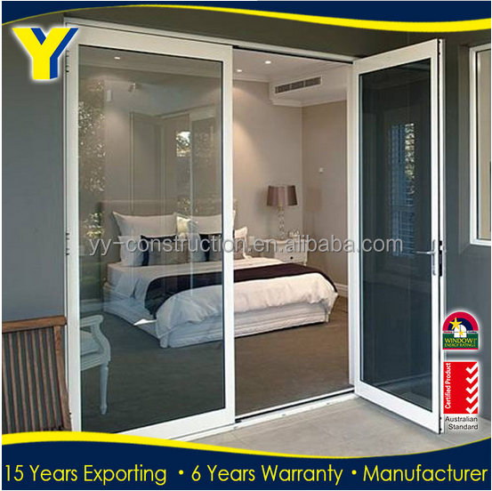 Made in China windows and doors / cheap french doors / thermal break aluminium casement doors