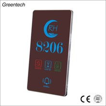 House Number Electronic Doorplate with Touch control electric hotel door bell