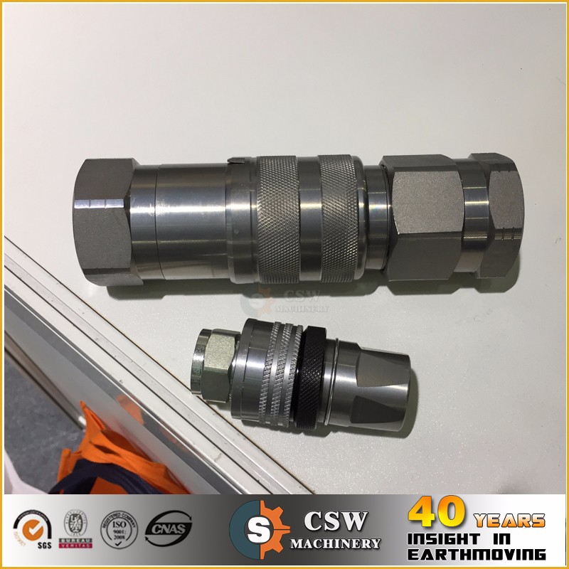 Flat face hydraulic quick coupling 1/2'' BSP widely used on excavator rapairs
