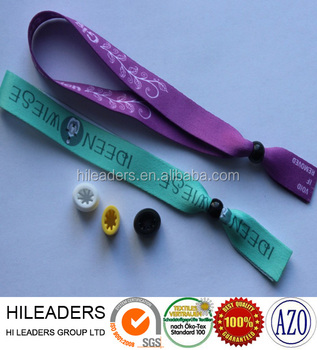 WSR0086 Super Quality 100% Polyester Custom Printed Ribbon Bracelet