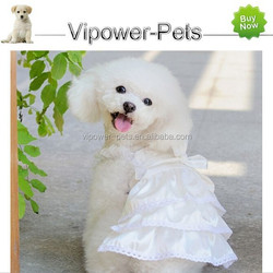 Wholesale Fashion Dog Clothes Puppy Dog Wedding Clothing White Color Princess Dress Summer Pet Dog Apparel