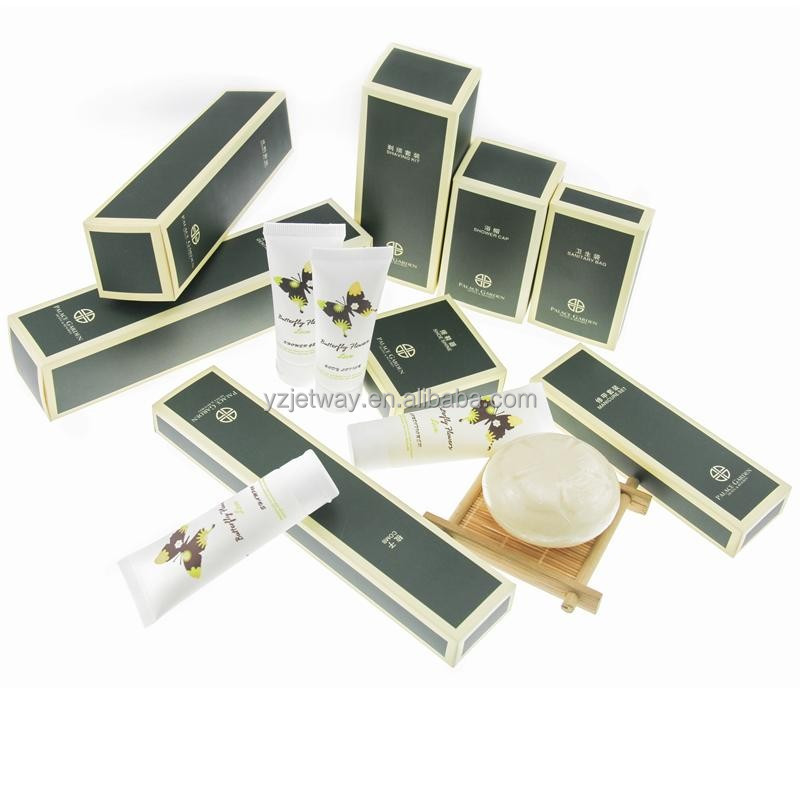Customized cheap hotel supply wholesale hotel amenities packaging