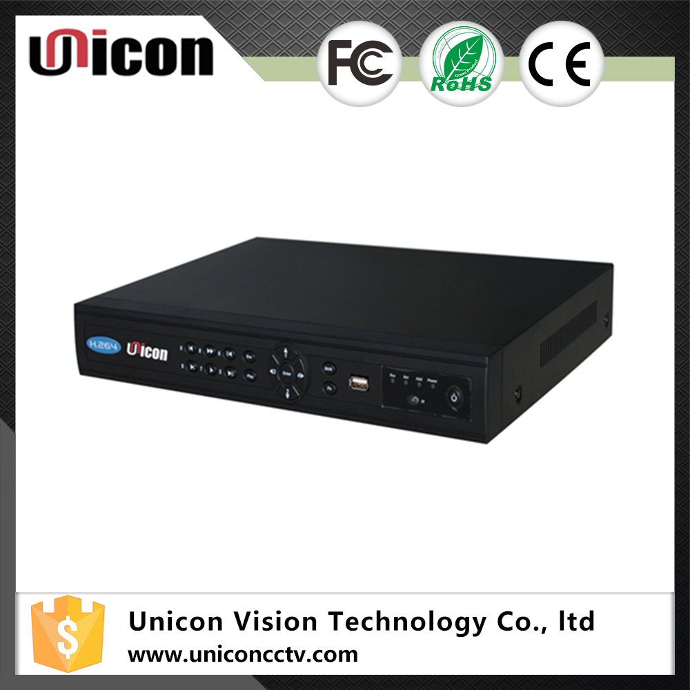 Unicon Vision h.264 8 port channel cctv dvr 1080p 2sata poe 12v nvr recorder