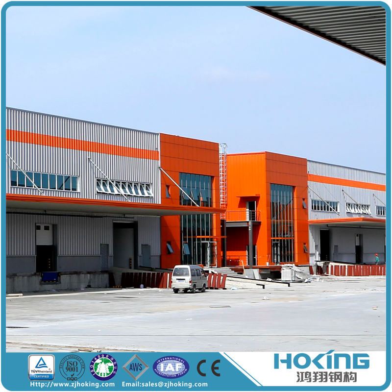 Steel Structure Light Industrial Plant Construction Building with Drawings Prefab Project Warehouse