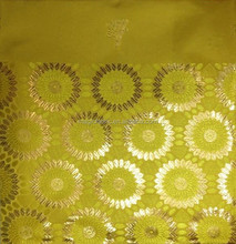 Yellow and gold New arrival wholesale African gele head tie sego head tie jubilee headties