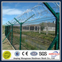 Anti-theft Welded Wire Mesh Fence with Razor Wire and Y post