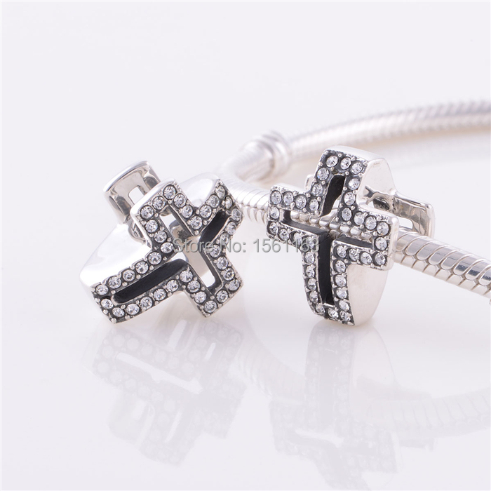Get Quotations Genuine 925 Sterling Silver European Style Fashion Cross Charms Fit Pandora Snake Bracelets