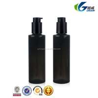 200ml black color left-right pump sprayer cosmetic use pet plastic lotion bottle