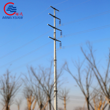 15m 1000DAN Electrical Utility Poles GR505 Material Octagonal Shape power transmission tower galvanized pipe